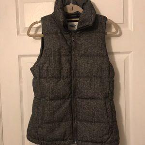 Herringbone puffy vest